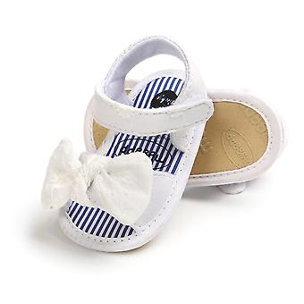 Girls Summer Open Toe Non-slip Soft Sole Flat Princess Sandals With Bowknot