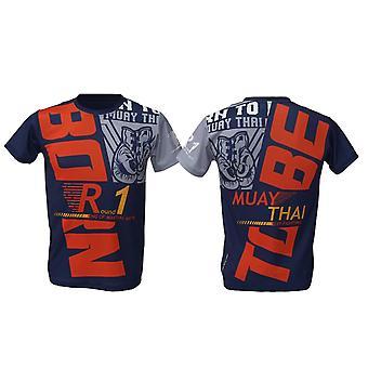 T-Shirt Muay Thai Top Thai Boxing MMA Sport Wear Unisex - (Navy)