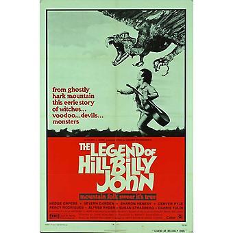 Legenda Hillbilly John elokuvan juliste (11 x 17)