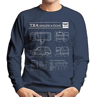 London Taxi Company TX4 Specifications Levc Men's Sweatshirt