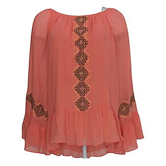 Laurie Felt Women's Top 3/4 Sleeve Pull Over Pink A301674