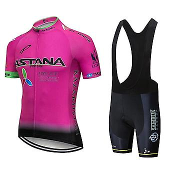 Team Astana White Cycling Clothing Bike Jersey Ropa Mens Bicycle Summer Pro