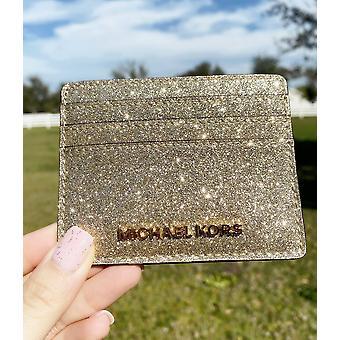 迈克尔 · 科尔斯赠送喷气机设置旅行大卡持有人苍白的金色闪光