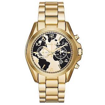 Michael Kors MK6272 Zwart en Gouden Wijzerplaat Mens Horloge