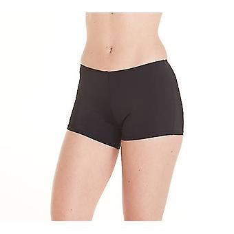 Aqua Perla Mujer Deporte Negro Bikini Bottom SPF 50+