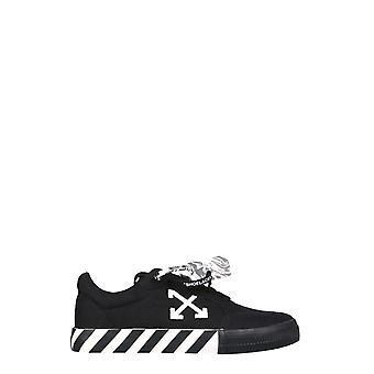 Off-white Omia085r21fab0011001 Herren's Black Cotton Sneakers