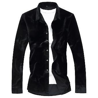 YANGFNA Men's Velvet Shirt