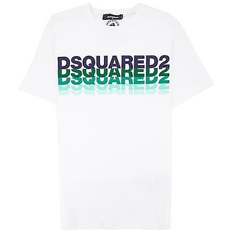 Dsquared2 Multi Logo Grafisk T-skjorte Hvit