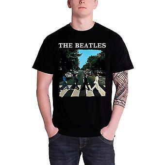 Les Beatles T Shirt Abbey Road traversant bande Logo officiel Mens nouveau noir