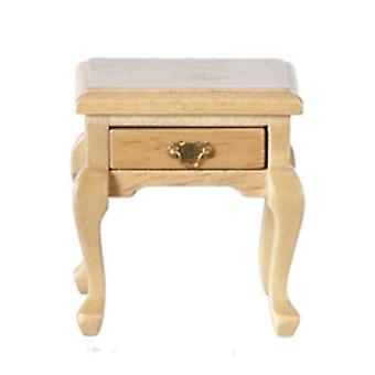 Dolls House Light Oak Queen Ann Side Table Miniature Living Room Meubles