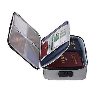 Document Bag Large Capacity Travel Passport Wallet Card Organizer Men's