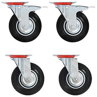 8 kpl. ohjauspyörät 125 mm
