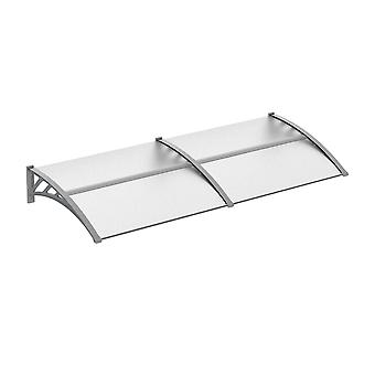 Outsunny Door Canopy Awning Outdoor Window Rain Shelter Cover for Front/Back Door Porch Clear 200 x 80cm