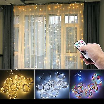 3m Led Curtain Garland On The Window Usb String Lights