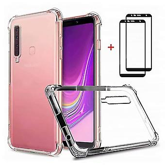 Samsung galaxy a9/a9s/a9 star pro case, dygg case soft tpu silicon transparent shockproof bumper wit