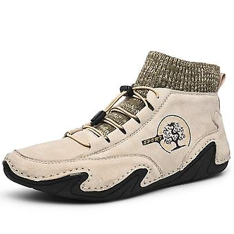 Hombres High Top Zapatos Casual 8898 Beige