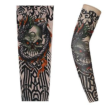 Summer Outdoor Cycling Sport Tattoo Sleeve, Man Arm Warmers