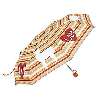 Children's umbrella Llama Junior Polyester Orange / Red 52 Cm