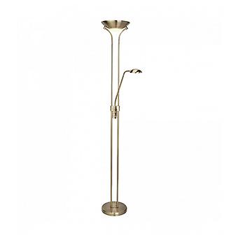 Mother And Child Led Floor Lamp - Antique Brass