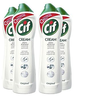 4 Pack of Cif 100% Natural Cleaning Particles Original Cream, 500ml