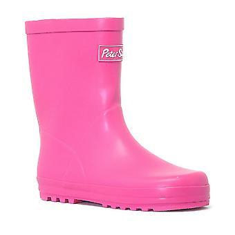 New Peter Storm Girl's Waterproof Wellies Pink