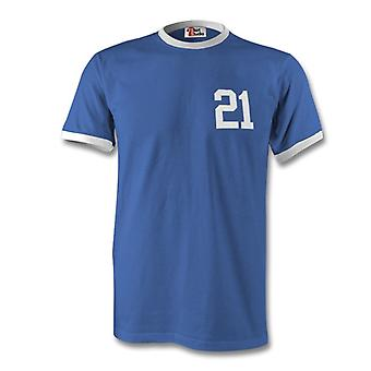 Andrea Pirlo 21 Italy Country Ringer T-Shirt
