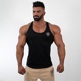 Mens Tank Tops Shirt, Gym Fitness Clothing Vest, Sleeveless, Cotton