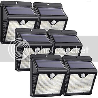 Solar Lights Outdoor 6 Pack, 150 LED Motion Sensor Lights Wireless Waterproof Security Lights