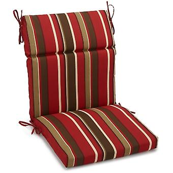 Coussin de chaise carrée extérieure en polyester de 18 pouces par 38 pouces - Monserrat Sangria