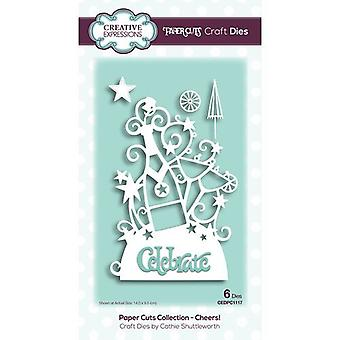 Kreative udtryk Papir Cuts Collection Cutting Dies - Cheers