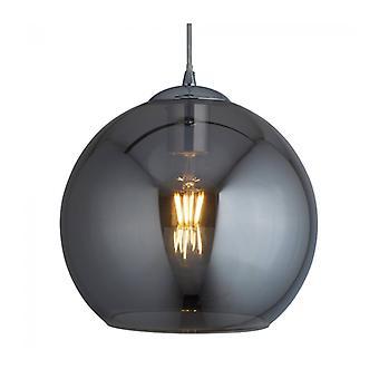Bolas De Luz Colgante, Vidrio Ahumado, 25 Cm