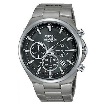 Uhr Pulsar PZ5097X1 - SPORT Chronograph/Dateur grau Stahl Armband und Stahl grau Stahl grau Männer