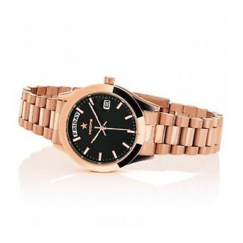 Hoops Luxury Day Date Gold Black Watch 33mm Women's
