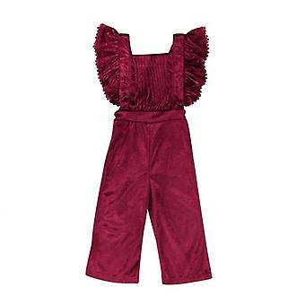 Toddler Baby Backless Hagesmæk Bukser Romper Jumpsuit Outfit Tøj