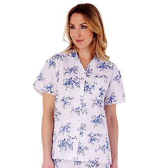 Slenderella PJ77208 Women's Floral Cotton Pyjama Set