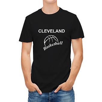 Allthemen Men's Lightweight Basketball Print Black T-shirt