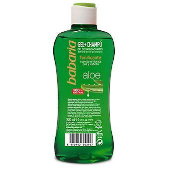 Babaria Gel de Bain + Shampooing Aloès 200 ml