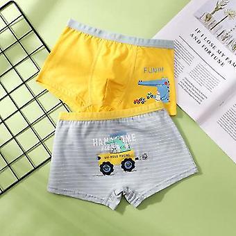 Baby Trucks Cotton Dinosaur Underwear Boxers (Conjunto 2)