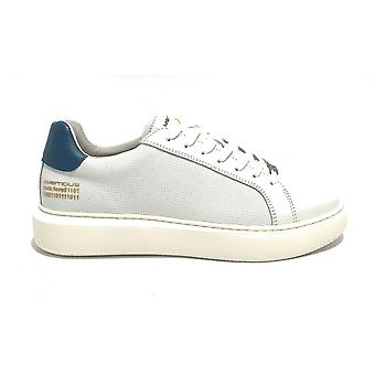 Men's Shoe Ambitious 10634a Sneakers In White Leather / Blue Bottom High Us21am08