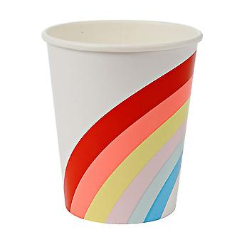 Rainbow Paper Party Cup x 12 Birthday Party