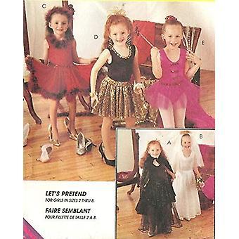 McCalls Naaien Patroon Meisjes Childs Bodysuit Rok Ballerina Kostuums Maat 7-8