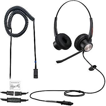 HanFei Office Phone Headset r RJ9 Call Center Telefon Headset mit Geruschunterdrckung Mikrofon fr