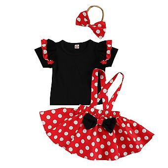 Newborn Clothes Set, Floral Bodysuit, T-shirt Skirts