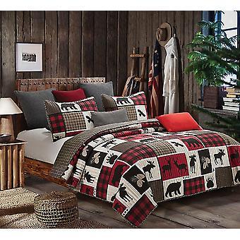 Spura Home Pictorial Lodge Life Overgangsordning Quilt Set
