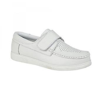 DEK Crown Mens Coated Leather Bowling Shoes White