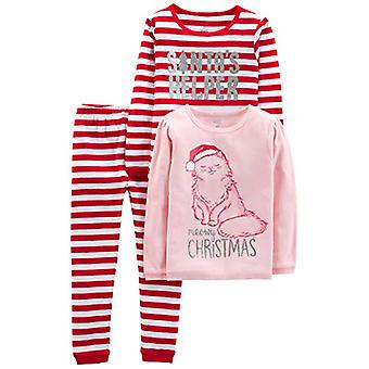 Simple Joys by Carter's Baby, Little Kid, and Toddler, Red Stripe/Kitty, Size 4