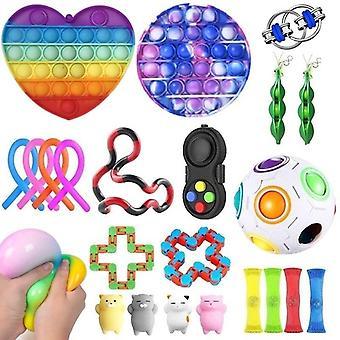 23st Pack Fidget Leksaker Sensory Toy Set Antistress Relief Fidget Leksaker