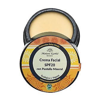 Spf20 face cream with mineral screen 30 ml of cream