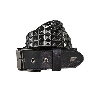 Lowlife Triple S besetzt Ledergürtel in schwarz und Schlangenhaut
