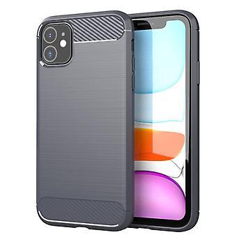 Tpu Kohlefaser-Gehäuse für iphone 11 pro grau mfkj-805